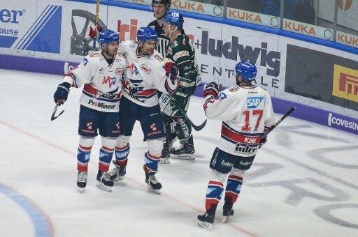 Die Adler Mannheim setzten sich gegen Ingolstadt durch