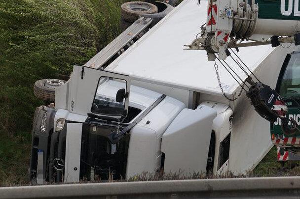 Chemnitz/Frankenberg: Unfall auf A4 sorgt für zehn Kilometer langen Stau