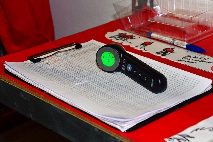 Die Ergebnisse werden in ein Protokoll eingetragen.
