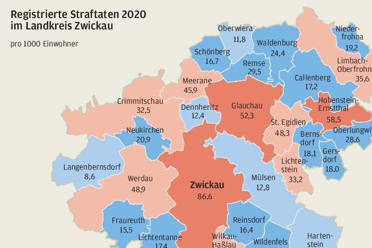 Wo es im Landkreis Zwickau am sichersten ist