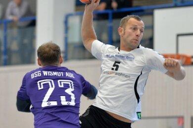 Mit Torriecher: Sebastian Natzschka erzielte gegen die BSG Wismut Aue fünf Treffer, dennoch reichte es für Fortschritt nicht.