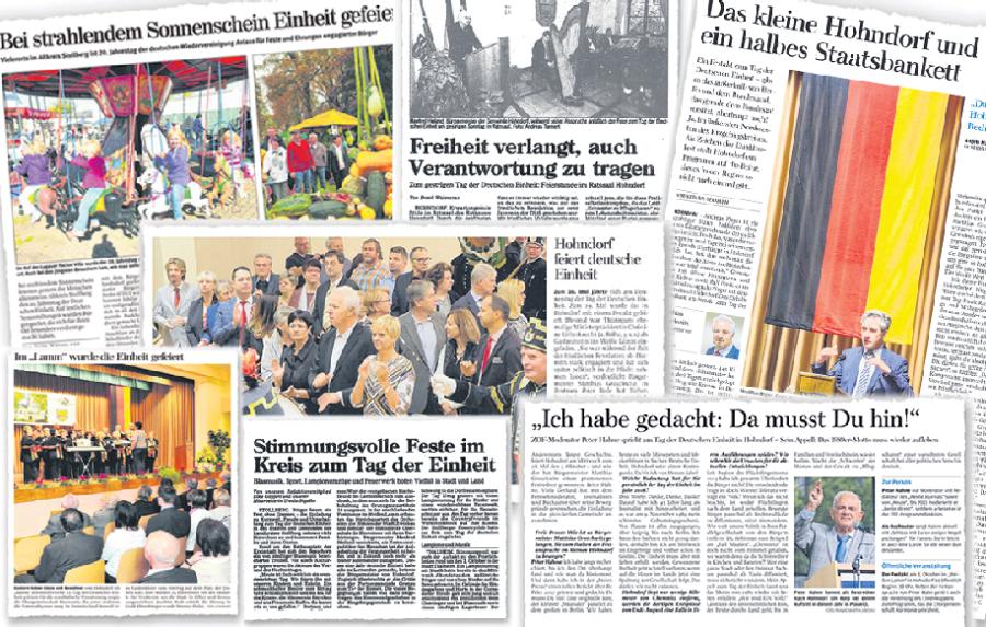 In den Jahren seit der Wende sind viele Berichte über den Hohndorfer Festakt entstanden.