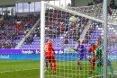 Das erste Tor für den FC Erzgebirge Aue fiel in der elften Minute.