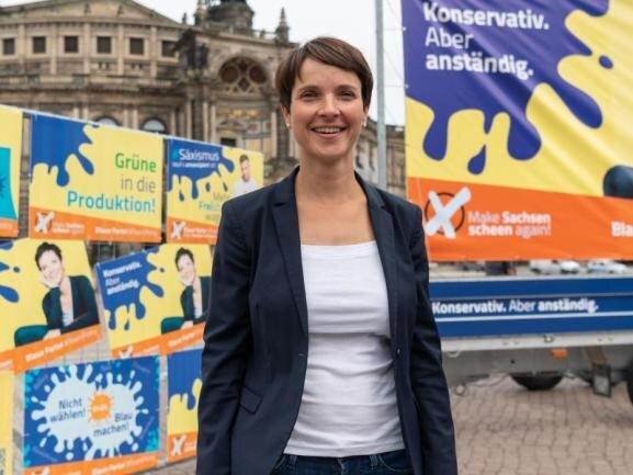 Frauke Petry, Vorsitzende der Blauen Partei.