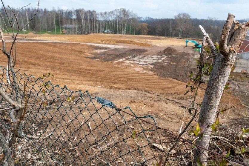 Hier auf dem Gelände am alten Flender-Heizhaus soll der neue Solarpark gebaut werden. Es ist die vierte Anlage dieser Art in Penig.