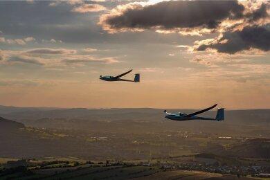 So schön können Testflüge mit der neuen E2Glide-Technik über dem Erzgebirge sein.