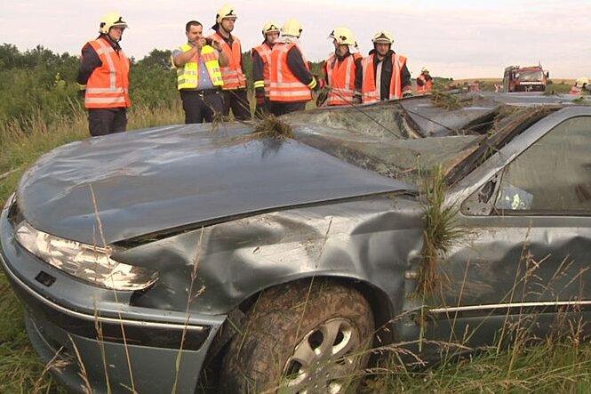 Meerane: Fünf Verletzte bei Unfall auf A4