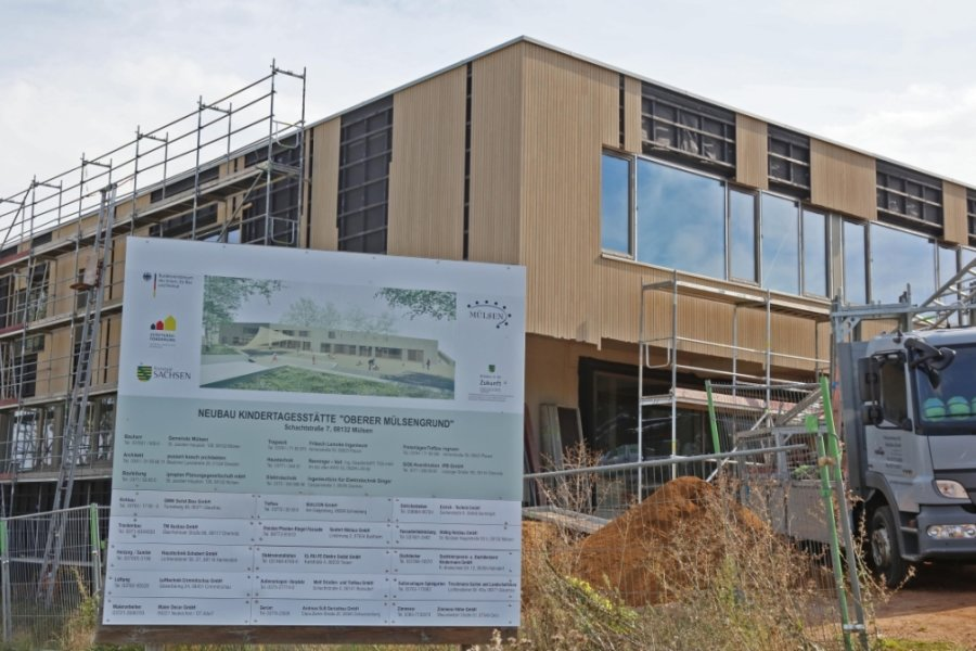 """Mit der bevorstehenden Inbetriebnahme der neuen Kita """"Fuchsbau"""" in Mülsen mit ihren 145 Plätzen wird das""""Regenbogenland"""" geschlossen. Die Kita """"Waldwichtel"""" bleibt mittelfristig Außenstelle."""
