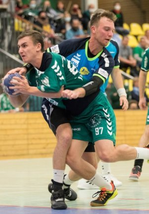 Nicht zu stoppen: Kreisläufer Martin Rom traf gegen Jena neunmal und war neben Keeper Tino Hensel einer der Matchwinner.