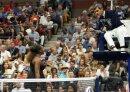 Diskutiert mit dem Schiedsrichter: Serena Williams