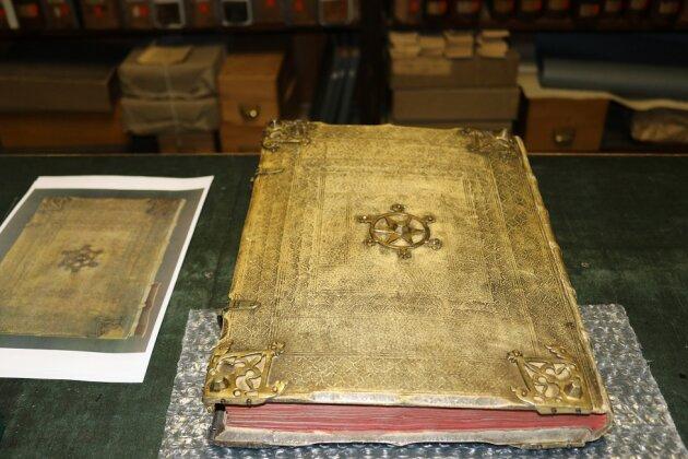 Das Stadtrechtsbuch aus dem Jahr 1348.
