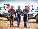 X-Raid-Team: Peterhansel, Sainz und Depres (v.l.)