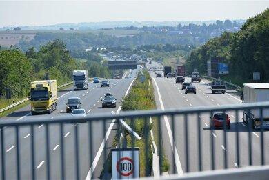 Auf der Autobahn 4 Siebenlehn in Richtung Nossen soll nach Abschluss der Bauarbeiten Tempo 120 gelten.