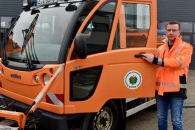 Ein Multicar gehört zur Technik des Bauhofes von Limbach-Oberfrohna, dessen neuer Chef Norman Uhlig ist. Um diese Stelle hatten sich laut Stadt neben ihm noch mehr als 20 andere Interessenten beworben.