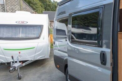 Die Firma Caravan Böhm in Thum vermietet sowohl Wohnmobile als auch Wohnwagen.