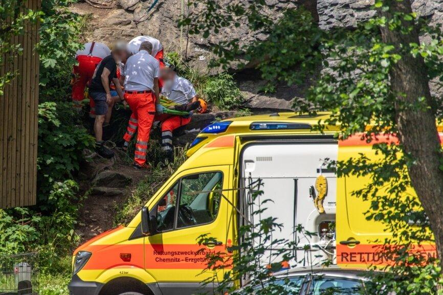 In der Wolkensteiner Schweiz verletzte sich am 27. Juni ein Kletterer schwer. Bereits in den Vorjahren ereigneten sich Unfälle.