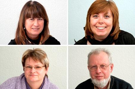 Die Experten: oben: Sabine Fischer und Manuela Budewell; unten: Viola Tschesnokow und Klaus-Peter Kaden