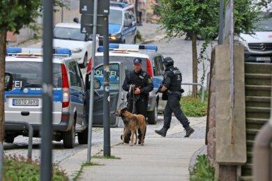 Mit einem Großaufgebot hatte die Polizei im Juni 2018 unter anderem in Limbach-Oberfrohna nach dem Mann gefahndet.