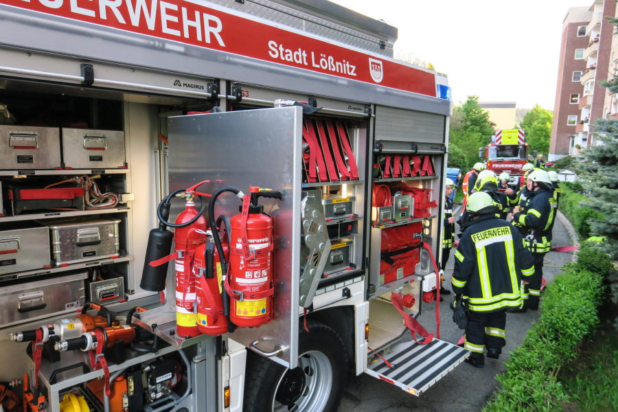 Feuerwehreinsatz an der Lößnitzer Schillerstraße