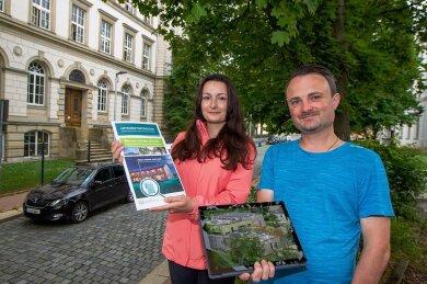 Paula Müller und Marcel Uebel stellten die Pläne vor.