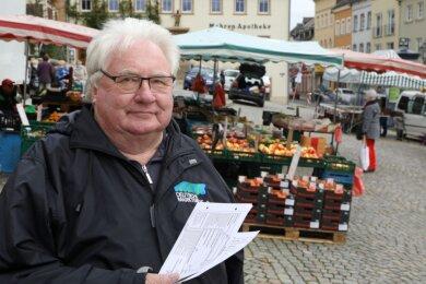 Marktmeister Andreas Großer hatte fast 30 Jahre lang mittwochs auf dem Altmarkt das Sagen.