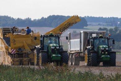 Derzeit läuft die Kartoffelernte auf Feldern der Langenchursdorfer Agrargenossenschaft.