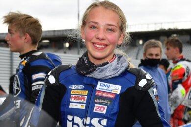 Die 15-Jährige Lucy Michel sorgte bei ihrem unverhofften Auftritt beim IDM-Finale auf dem Hockenheimring für Furore.
