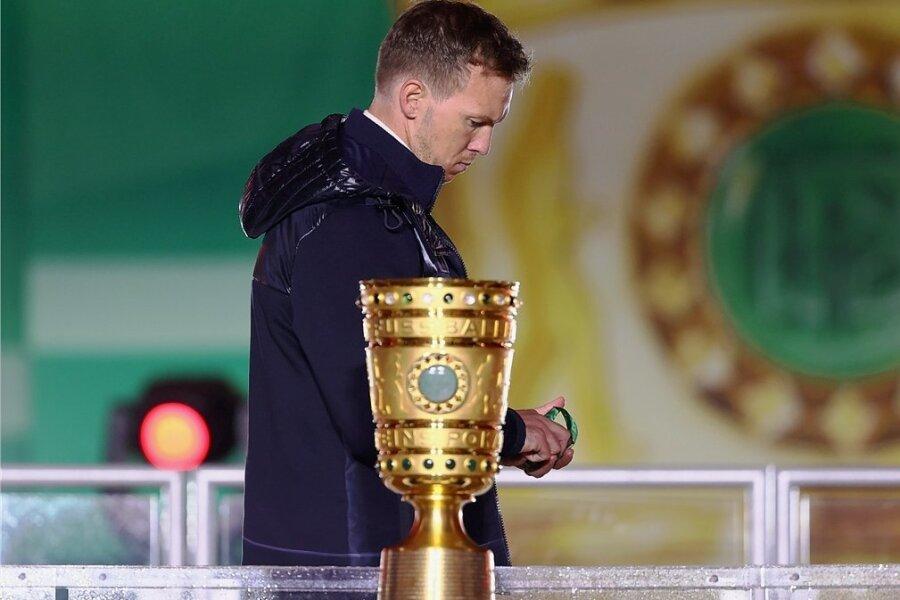 Julian Nagelsmann konnte mit RB keinen Titel gewinnen. Auch das Pokalfinale ging verloren.