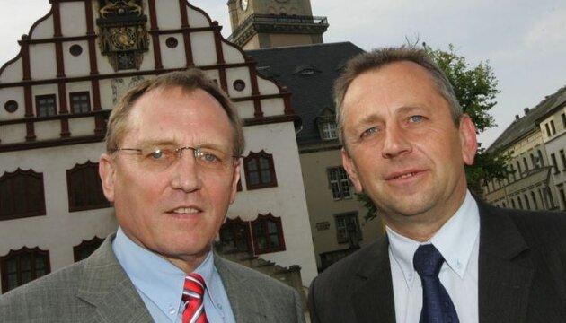 Die Gewinner: Manfred Eberwein (l.) und Uwe Täschner.