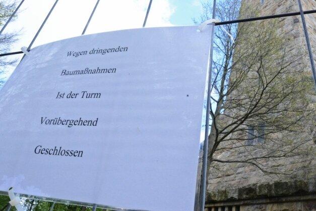 Im Winter 2014 musste der Bismarckturm aus Sicherheitsgründen plötzlich gesperrt werden.