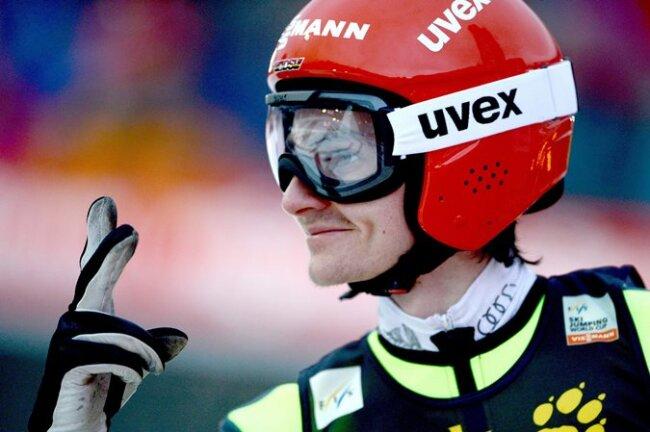 Richard Freitag gewann das vorletzte Weltcupspringen vor der Tournee in Engelberg, sieht sich aber nicht als Favorit.