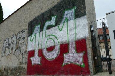 Die Mauer an der Gartenstraße.