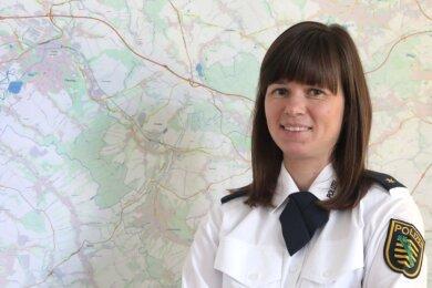 Katharina Matt ist die neue Leiterin des Polizeireviers Glauchau. Die 37-Jährige stammt aus dem Vogtland und wohnt in Zwickau.