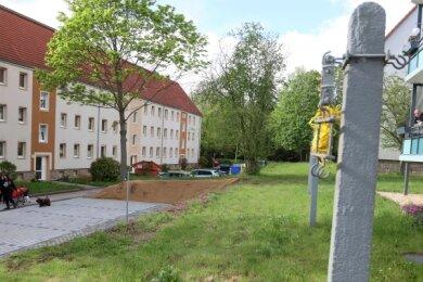 Der Wäscheplatz ist kaum noch nutzbar. Das kritisieren die Bewohner der Friedrich-Ebert-Straße schon lange.