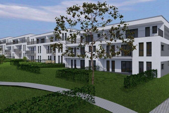 Moderner Neubau inmitten einer klassischen Genossenschaftssiedlung in Ebersdorf: So soll die neue Wohnanlage aussehen.
