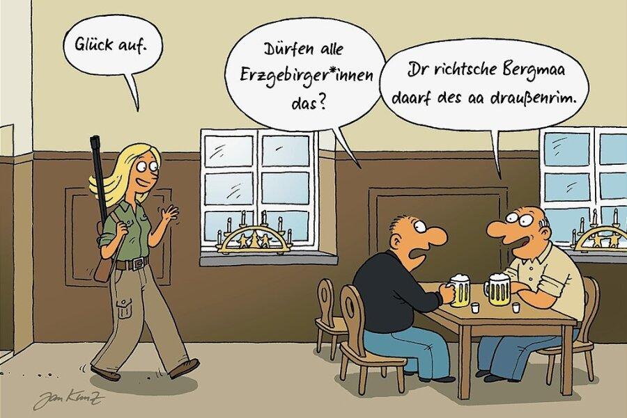 """Sagen Frauen """"Glück auf""""?"""