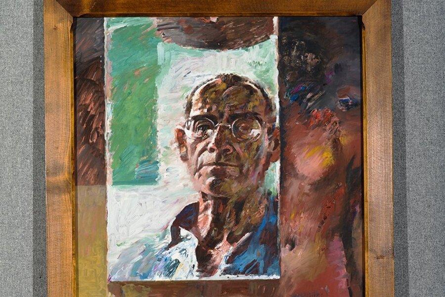 """Trotzig am Ende: Willi Sittes """"Selbstbildnis"""" aus dem Jahr 1989."""