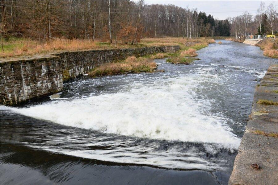 Die Freiberger Mulde bei Halsbrücke.