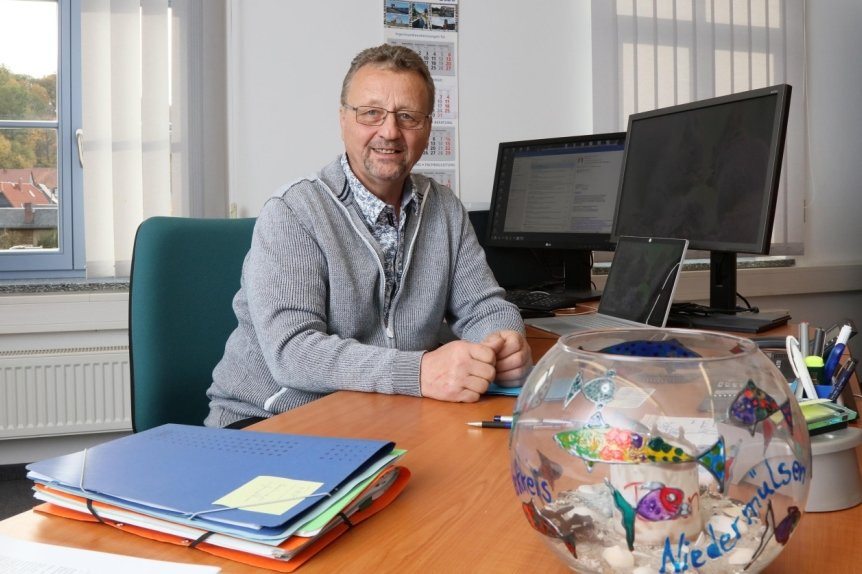 Bürgermeister Hendric Freund hatte am Samstag seinen letzten Arbeitstag.