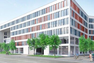 Erster Spatenstich im Chemnitzer Conti-Loch - Stadt wird Hauptmieter im Neubau