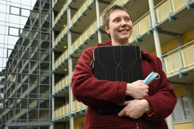Den größten Teil ihres im Oktober aufgenommenen Studiums an der Technischen Universität absolviert Sophie Scheurer-Clark derzeit pandemiebedingt in ihrem Zimmer im Studentenwohnheim.