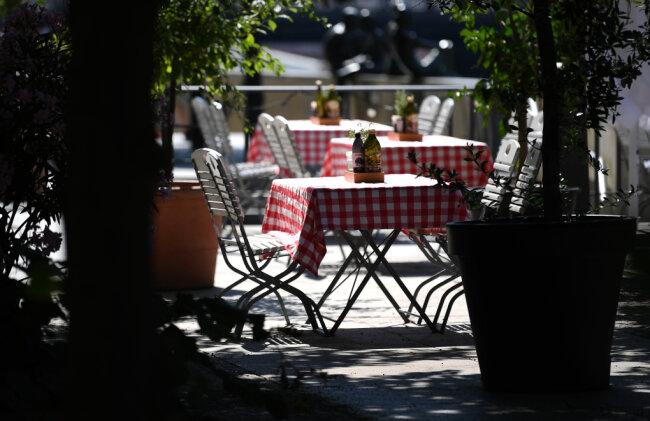 Ein Bild, dass es in diesem Jahr wegen Corona häufig zu sehen gab: leere Tische.