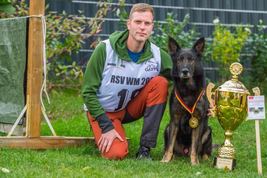 Leukersdorfer holt mit Hund WM-Titel