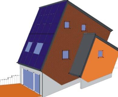 """<p class=""""artikelinhalt"""">So soll der Energie-Cube einmal aussehen. Die Fertigstellung ist im Sommer geplant.</p>"""