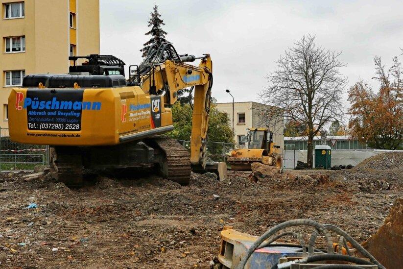 Wohnblock in Werdau-Ost plattgemacht