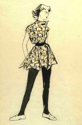 Modellentwürfe wie dieser von Leonie Bauer können jetzt im Stadtarchiv eingesehen werden.