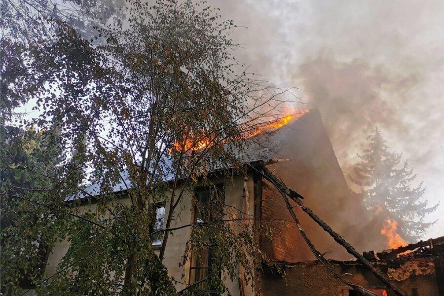 Am 12. August brannte der Dreiseitenhof im Amtsberger Ortsteil Weißbach vollständig nieder.