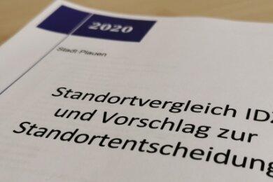 39 Seiten und etliche Anlagen: Der Variantenvergleich für das Plauener Informations- und Dokumentationszentrum zur Friedlichen Revolution 1989 liegt vor, doch die Fronten sind verhärtet - keine Einigung in Sicht.
