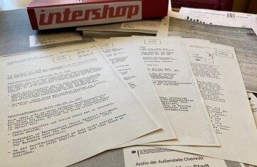 Mehr als 200 Seiten Dokumente sind zur Überwachung der Intershops bei der Stasi-Unterlagenbehörde erhalten.