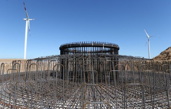 Momentan das Fundament für das dritte Windrad in Dennheritz gebaut.